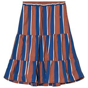 Bobo Choses Girls Skirts Blue Awning Stripes Long Skirt