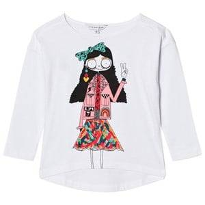 Little Marc Jacobs Girls Tops White White Miss Marc Print Long Sleeve Tee