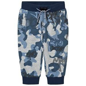 Little Marc Jacobs Boys Bottoms Blue and Grey Branded Camo Sweat Pants