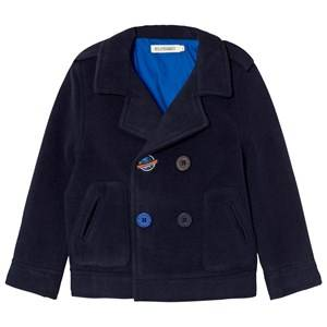 Billybandit Boys Coats and jackets Navy Navy Peacoat with Space Embroidery