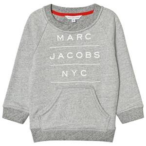Little Marc Jacobs Boys Jumpers and knitwear Grey Grey Marl Branded Sweatshirt