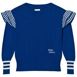 Bobo Choses Girls Jumpers and knitwear Blue Ruffles Knitted Jumper Blue