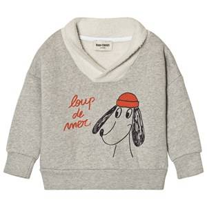 Bobo Choses Boys Jumpers and knitwear Grey Fisherman Sweatshirt Loup de Mer