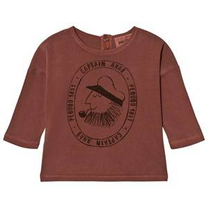 Bobo Choses Unisex Tops Red Baby T-Shirt Captain Ahab