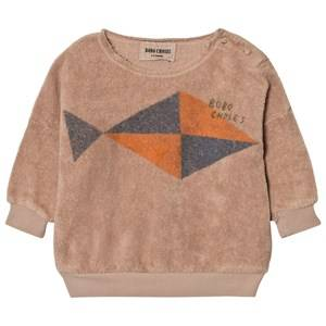 Bobo Choses Unisex Jumpers and knitwear Beige Baby Sweatshirt Fish