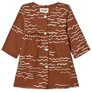 Bobo Choses Girls Dresses Brown Baby Princess Dress Tide