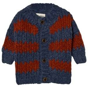 Bobo Choses Unisex Jumpers and knitwear Blue Baby Knitted Cardigan Stripes