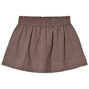 Bobo Choses Girls Skirts Brown Flared Skirt Vichy