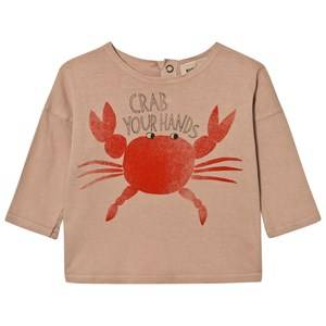 Bobo Choses Unisex Tops Brown Baby T-Shirt Crab Your Hands