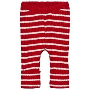 Bobo Choses Unisex Bottoms Red Baby Knitted Leggings Stripes Red