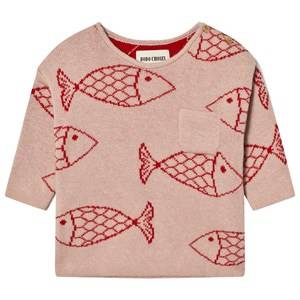 Bobo Choses Unisex Jumpers and knitwear Pink Baby Knitted Jumper Shoaling Fish