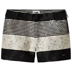 Karl Lagerfeld Kids Girls Shorts Multi Multi Tweed and Sequin Zip Shorts