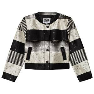 Karl Lagerfeld Kids Girls Coats and jackets Multi Multi Tweed and Sequin Collarless Jacket