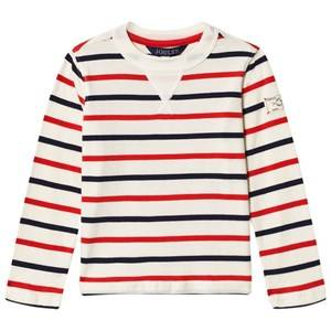 Joules Boys Tops Cream Breton Striped Jersey Tee