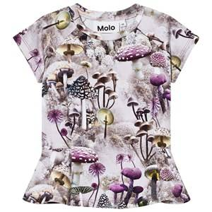Molo Girls Tops Green Robbin Tee Enchanted Forrest