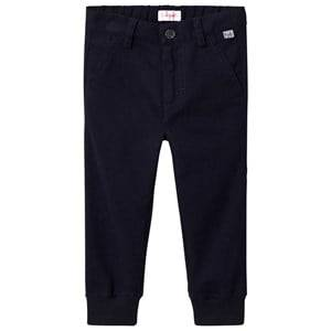 Il Gufo Boys Bottoms Navy Navy Cuffed Trousers