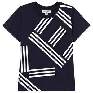 Kenzo Boys Tops Navy Navy Logo Front and Back Print Tee
