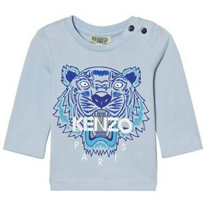 Kenzo Unisex Jumpers and knitwear Blue Pale Blue Long Sleeve Tiger Tee