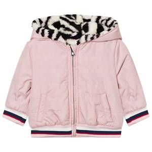 Kenzo Girls Coats and jackets Pink Pink Tiger Print Reversible Puffer Coat
