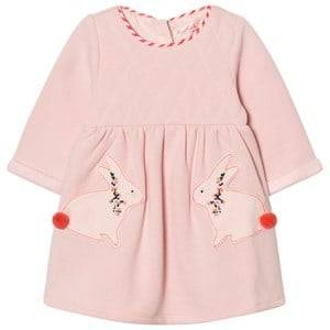 Billieblush Girls Dresses Pink Pale Pink Quilted Bunny Dress