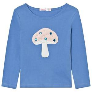Billieblush Girls Tops Blue Blue Mushroom Applique Tee