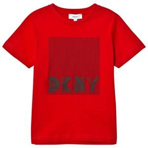 DKNY Boys Tops Red Red Branded Graphic Tee