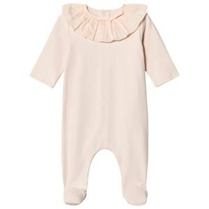 Chloé Girls All in ones Pink Pink Footed Baby Body Ruffle Collar