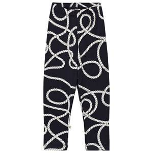 Emma och Malena Unisex Bottoms Blue EM Leggings Rope Navy