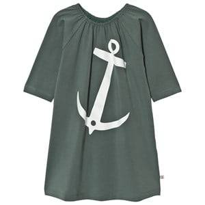 Emma och Malena Girls Dresses Green EM Stella Dress Anchor Green