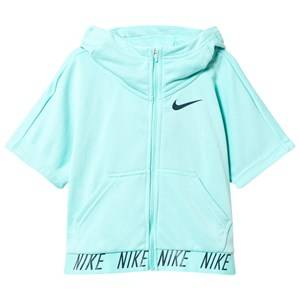 NIKE Girls Fleeces Green Aqua Green Training Hoodie
