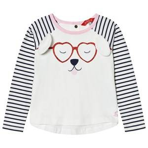 Joules Girls Tops Cream Cream Dog Print Applique Tee