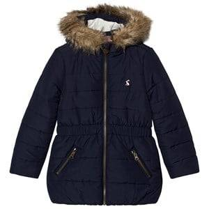 Joules Girls Coats and jackets Navy Navy Padded Parka Faux Fur Hood