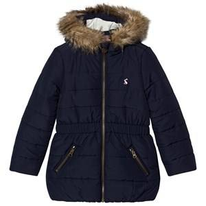 Tom Joule Girls Coats and jackets Navy Navy Padded Parka Faux Fur Hood
