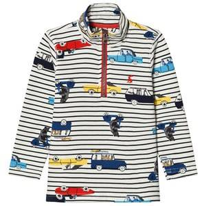 Joules Boys Jumpers and knitwear Cream Cream Stripe Car Print Sweatshirt