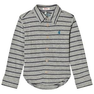 Joules Boys Tops Grey Grey Stripe Jersey Shirt