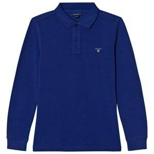 Gant Boys Tops Blue Blue Basic Pique Rugger Shirt