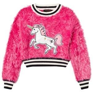 Juicy Couture Girls Jumpers and knitwear Pink Hot Pink Fluffy Unicorn Sweater