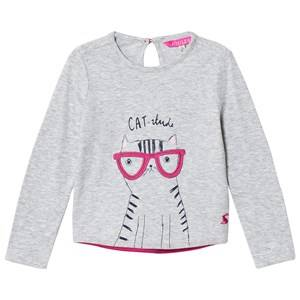 Tom Joule Girls Tops Grey Grey Cat-I-Tude Print Tee
