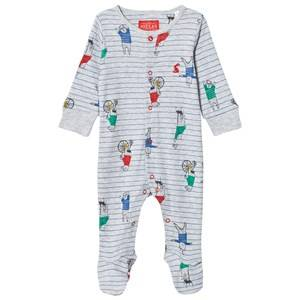 Tom Joule Boys All in ones Grey Footed Baby Body Grey Bear Print