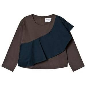 Wolf & Rita Girls Tops Brown Rita Blouse Grey