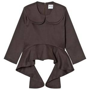 Wolf & Rita Girls Tops Brown Teresa Blouse Grey