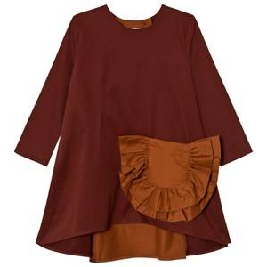 Wolf & Rita Girls Dresses Orange Claudia Dress Bordeaux