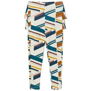 Wolf & Rita Girls Bottoms Beige Ana Leggings Stripes