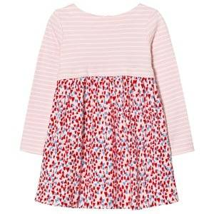 Joules Girls Dresses Pink Pink Stripe and Heart Print Jersey Dress