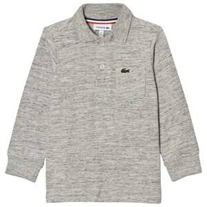 Lacoste Boys Tops Grey Grey Marl Long Jersey Polo