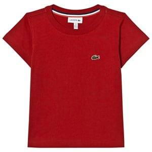 Lacoste Boys Tops Red Red Branded Jersey Tee