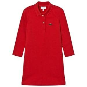 Lacoste Girls Dresses Red Red Pique Polo Dress