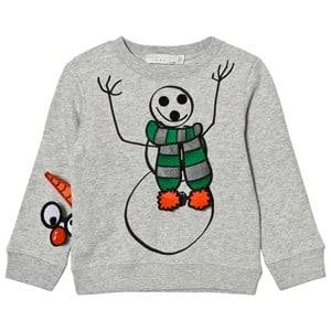 Stella McCartney Kids Boys Jumpers and knitwear Grey Grey Snowman Print Biz Sweatshirt