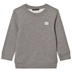 Acne Studios Unisex Jumpers and knitwear Grey Mini Fairview Face Sweatshirt Gray