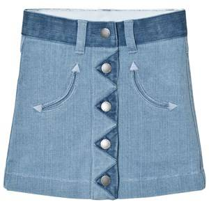 Stella McCartney Kids Girls Skirts Blue River Denim Button Skirt